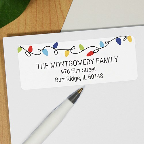 Holiday Lights Address Labels 197460x