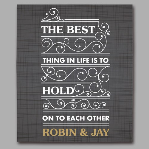 Personalized The Best Thing in Life Wedding Canvas 9110434X
