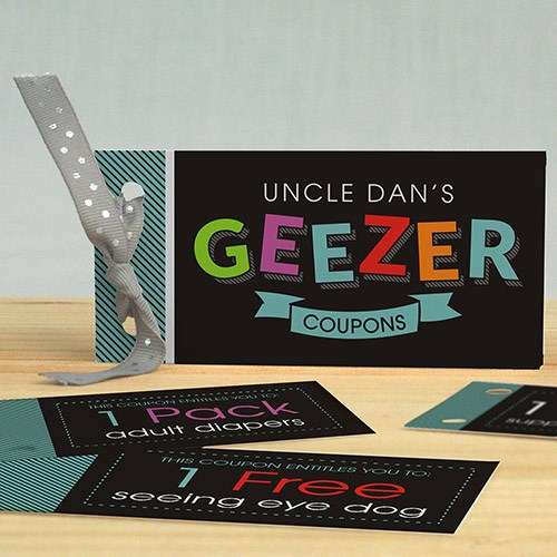 Personalized Geezer Coupon Book 11050617
