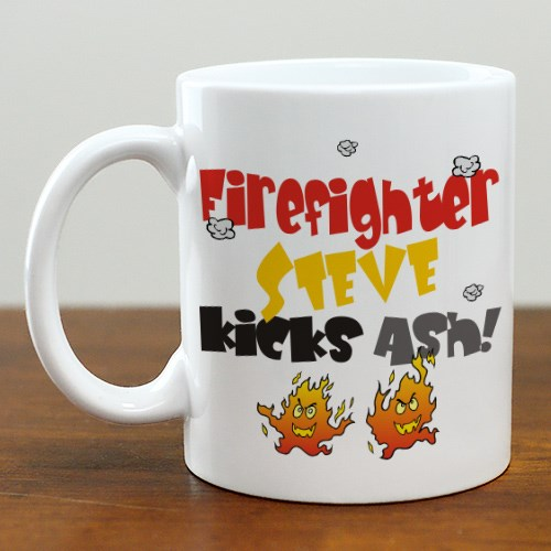 Kicks Ash Firefighter Coffee Mug