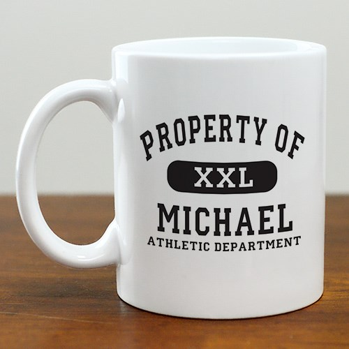 Personalized Property Of Athletic Coffee Mug 212260