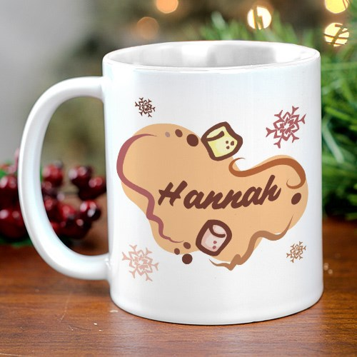 Marshmallow & Cocoa Personalized Hot Chocolate Coffee Mug