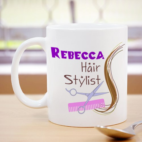 Custom Printed Hair Stylist Coffee Mug