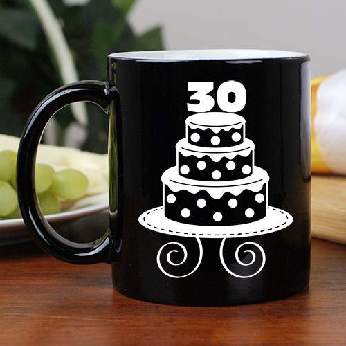 Personalized Birthday Cake Two-Tone Mug 255593BK