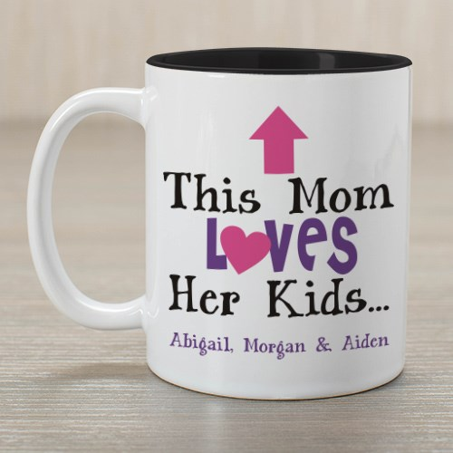 Personalized This Mom Loves Her Kids | Mother's Day Coffee Mug