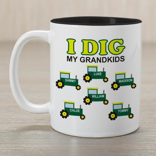 Personalized I Dig My Kids Coffee Mug 259350x