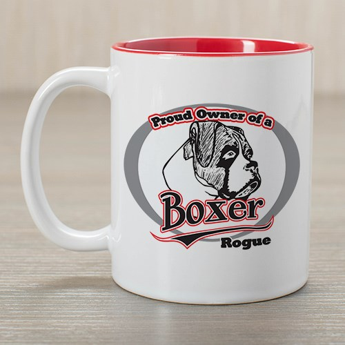 Personalized Proud Owner of a Boxer Mug 26331BXX