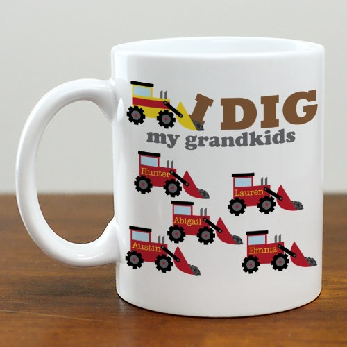 Personalized I Dig My Kids Mug 274790X