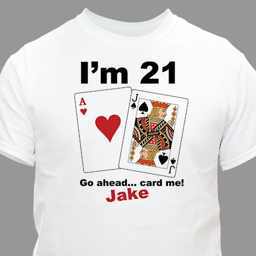 Personalized Card Me I'm 21 Birthday T-shirt