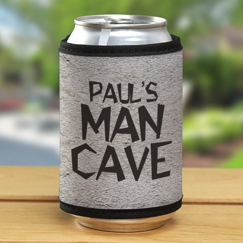 Personalized Man Cave Can Wrap Koozie | Mancave Gifts