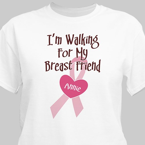 Personalized Breast Cancer Awareness Walk Tee Shirt