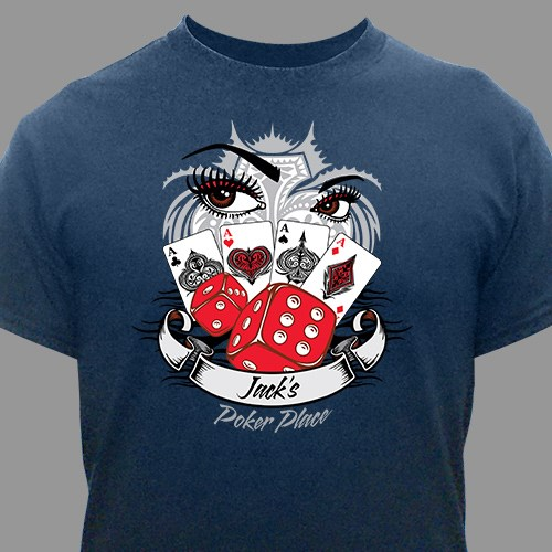 Personalized Poker Place Graphics T-Shirt 34457X