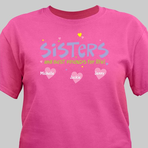 Personalized Sisters and Best Friends T-Shirt 34467X