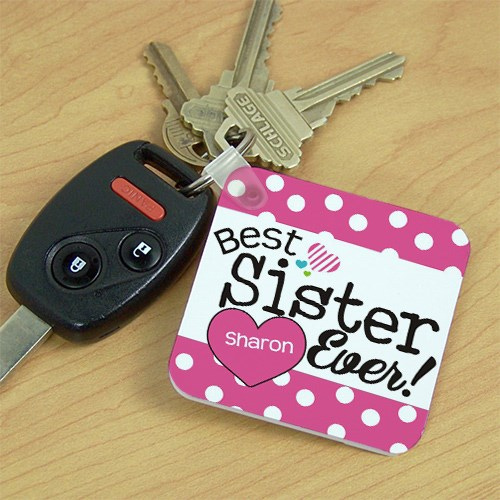 Personalized Best Sister Ever Key Chain 362180