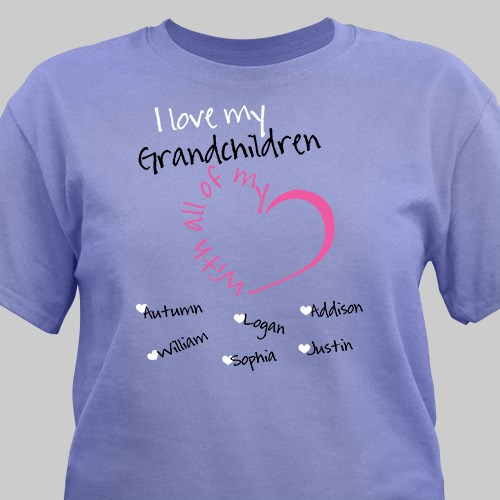Personalized With All My Heart T-Shirt 36223X
