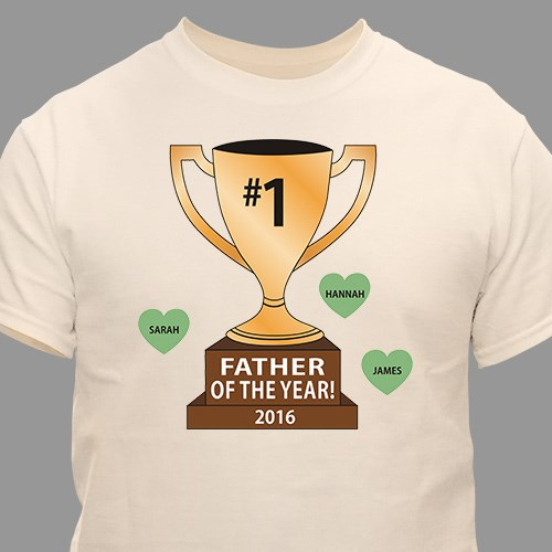 Personalized Number One Trophy T-Shirt | Dad Shirts