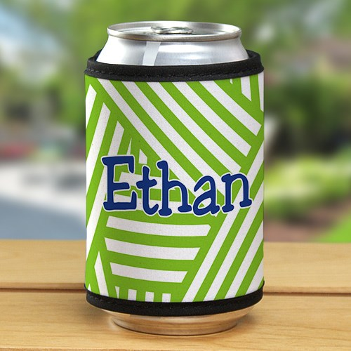 Personalized Stripes Can Koozie 367419