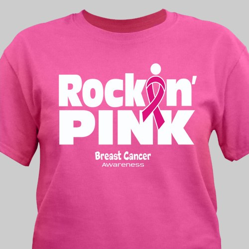 Rockin Pink Breast Cancer Awareness T-Shirt 36971X
