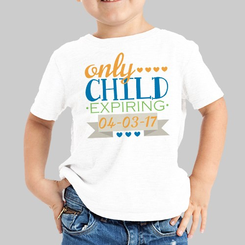 Personalized Only Child T-Shirt 36976X