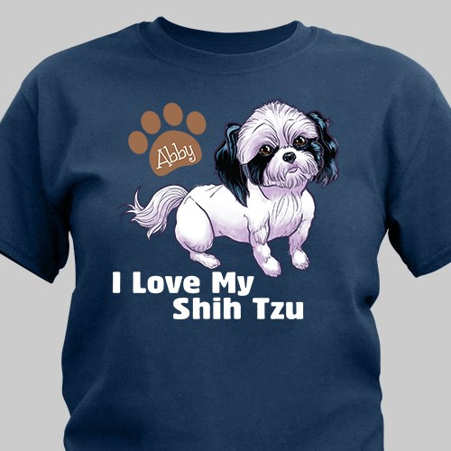 Personalized I Love My Shih Tzu T-Shirt 37070STX