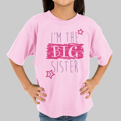Personalized Big Sister Little Sister T-Shirt | Big Sister Gifts from Baby