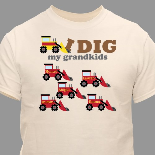 Personalized I Dig My Kids T-Shirt 37479X