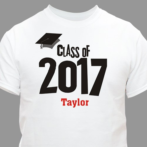 Graduation Cap Class Of Personalized Graduation T-shirt | Graduation Shirts