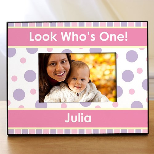 Personalized 1st Birthday Printed Picture Frame 455790