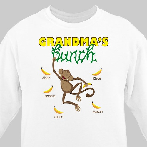 Personalized Monkey Bunch Sweatshirt | Personalized Grandma Shirts