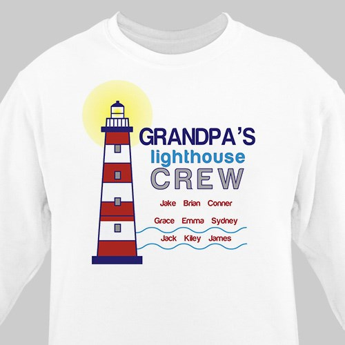 Personalized Lighthouse Crew Sweatshirt | Dad Shirts