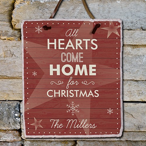 Personalized Heartss Come Home Slate Plaque 631106456