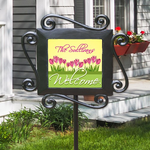 Personalized Spring Tulips Garden Stake 63133284
