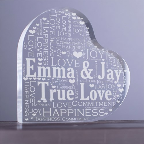 Engraved Couples Heart Keepsake 738612N