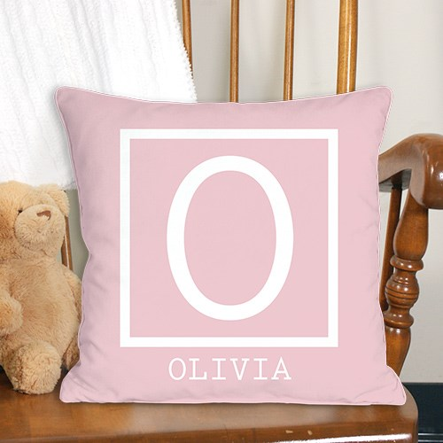 Baby Monogram Personalized Throw Pillow 830101283x