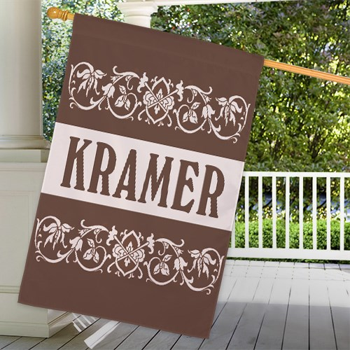 Personalized Family Welcome House Flag 83020612L