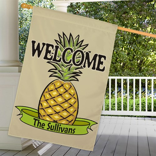 Personalized Pineapple Welcome House Flag 83020842L