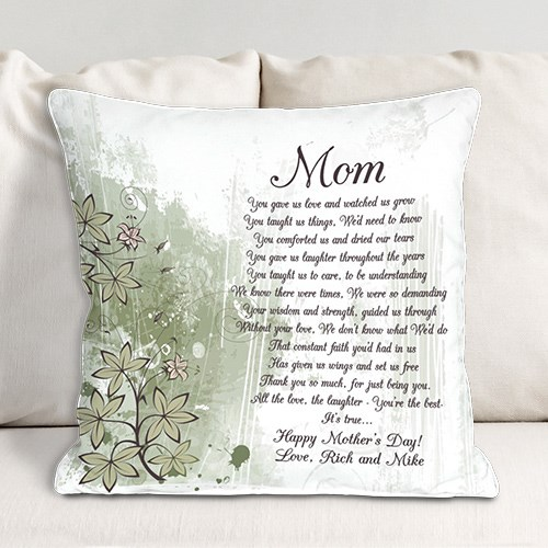 Personalized To My Mom Throw Pillow 83022433