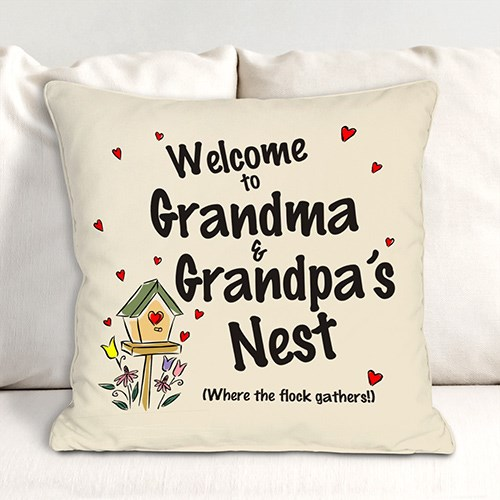 Personalized Our Nest Throw Pillow 83029483