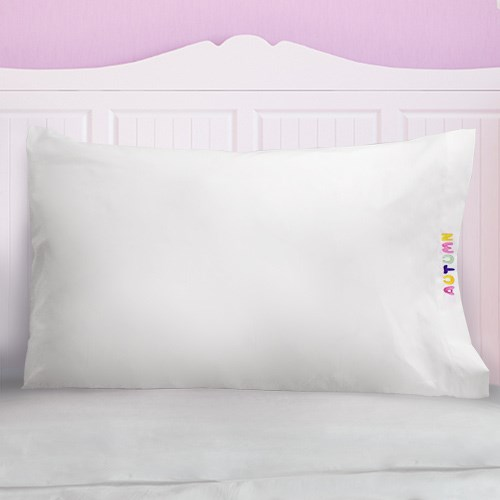 Embroidered Pastel Name Pillowcase