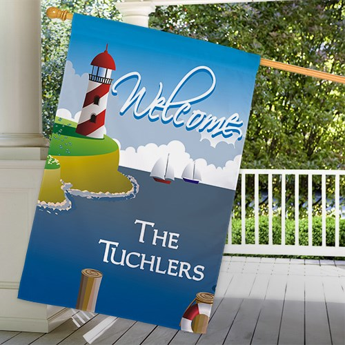 Personalized Lighthouse House Flag 83035962L
