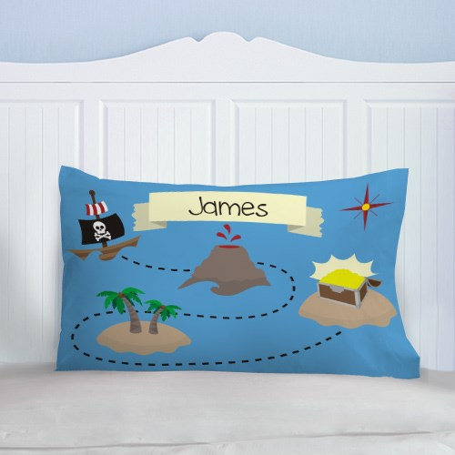 Personalized Pirates Treasure Map PIllow 83061496
