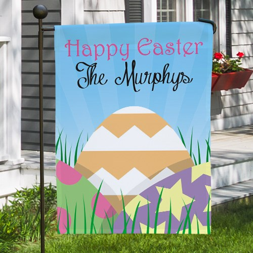 Personalized Easter Eggs Garden Flag 83062562