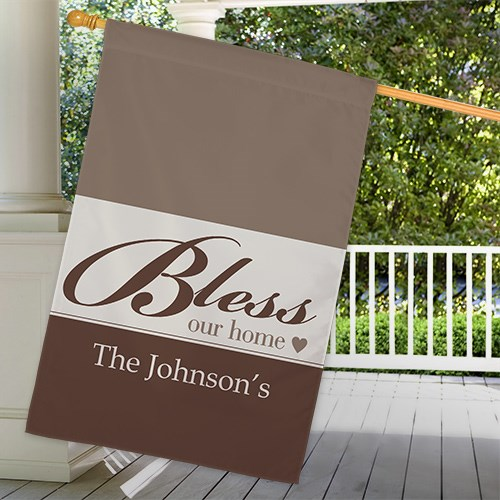 Personalized Bless Our Home House Flag 83075432L