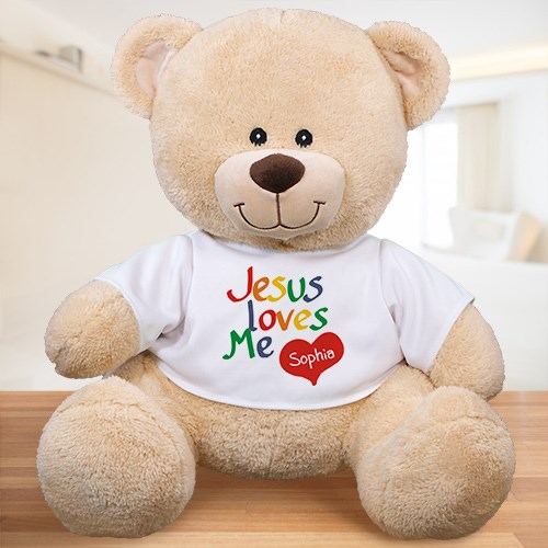 Personalized Jesus Loves Me Teddy Bear 8312719X