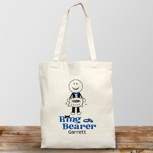 Personalized Ring Bearer Tote Bag 833542