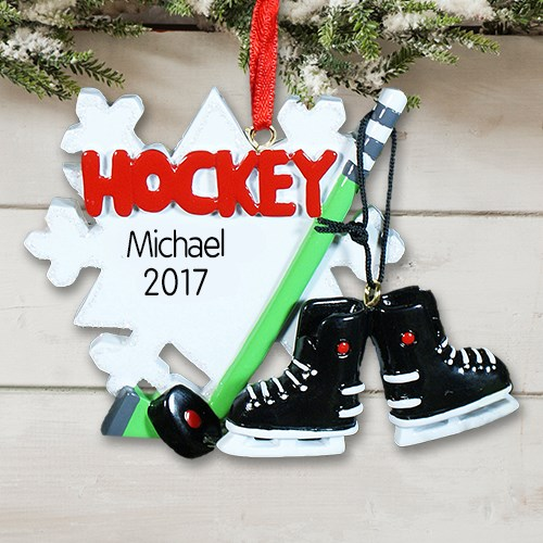 Hockey Player Personalized Ornament | Personalized Christmas Ornaments For Kids | Christmas Ornaments Personalized