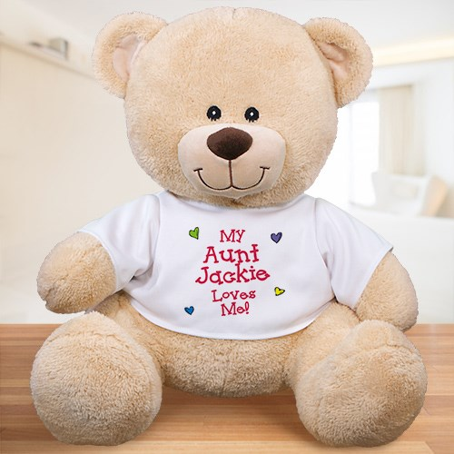 Personalized Who Loves Me Teddy Bear 837999X