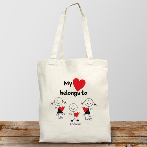 Personalized Belongs To Heart Tote Bag 838372