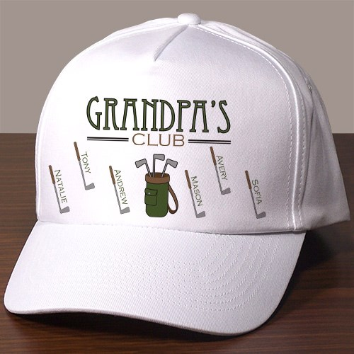 Personalized Gold Club Hat 849946