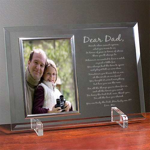 Personalized Fathers Day Glass Picture Frame | Personalized Father's Day Picture Frames